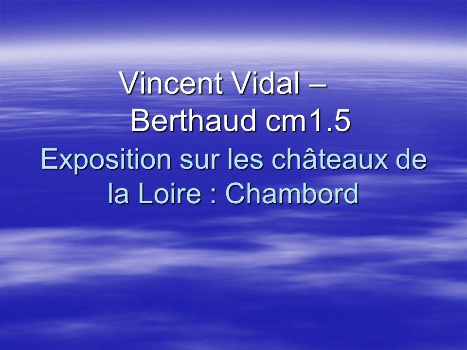 Exposition sur les châteaux de la Loire : Chambord Vincent Vidal – Berthaud cm1.5