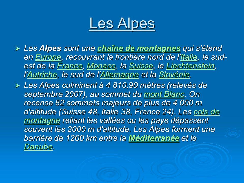 Les Alpes Les Alpes sont une c c c c c hhhh aaaa îîîî nnnn eeee d d d d eeee m m m m oooo nnnn tttt aaaa gggg nnnn eeee ssss qui s'étend en E E E E E