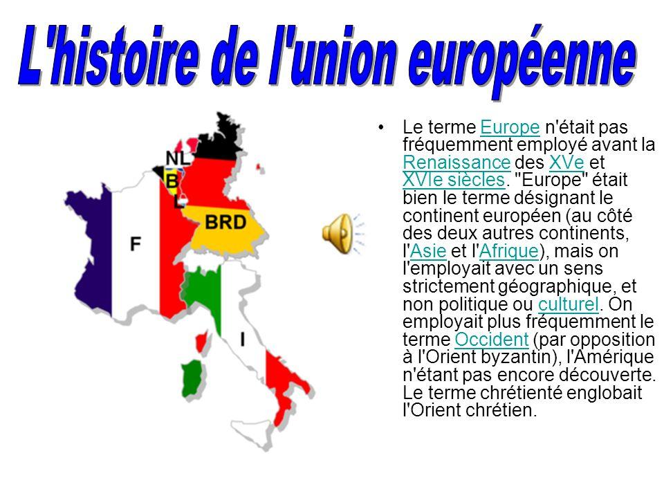 Union européenne (*)(*) L'Union européenne est le fruit d'une construction inédite dans l'histoire de l'humanité entre des États différents mais appar