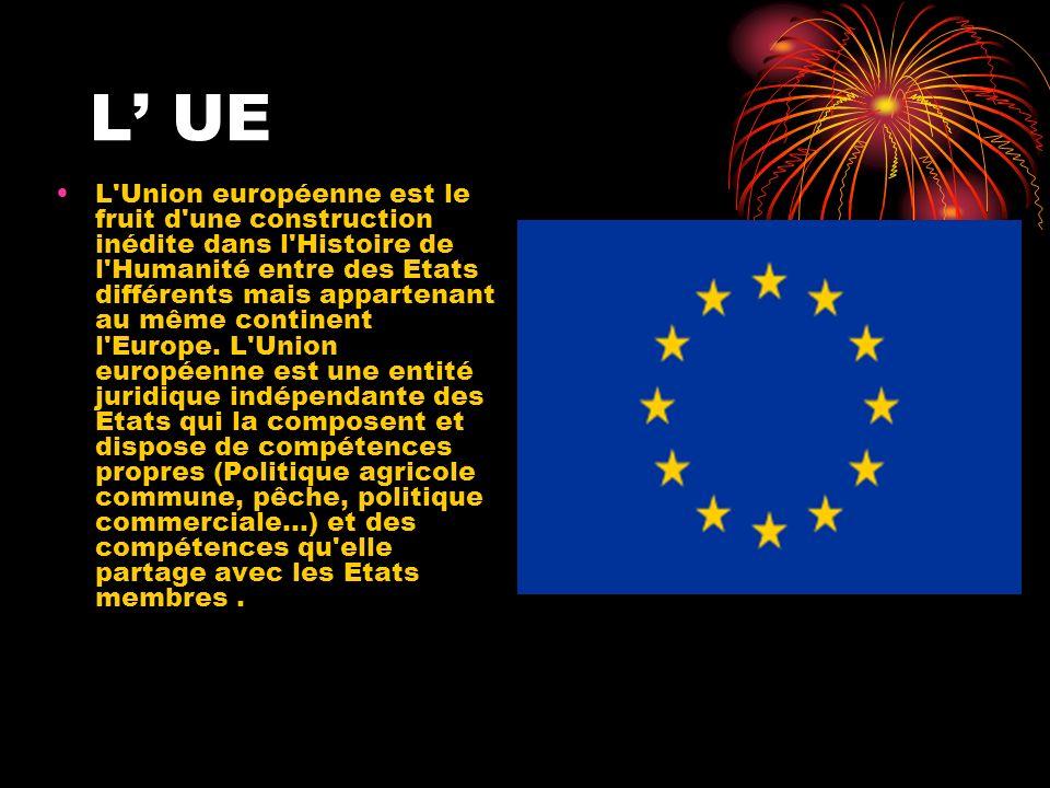 L'Union européenne est le fruit d'une construction inédite dans l'Histoire de l'Humanité entre des Etats différents mais appartenant au même continent