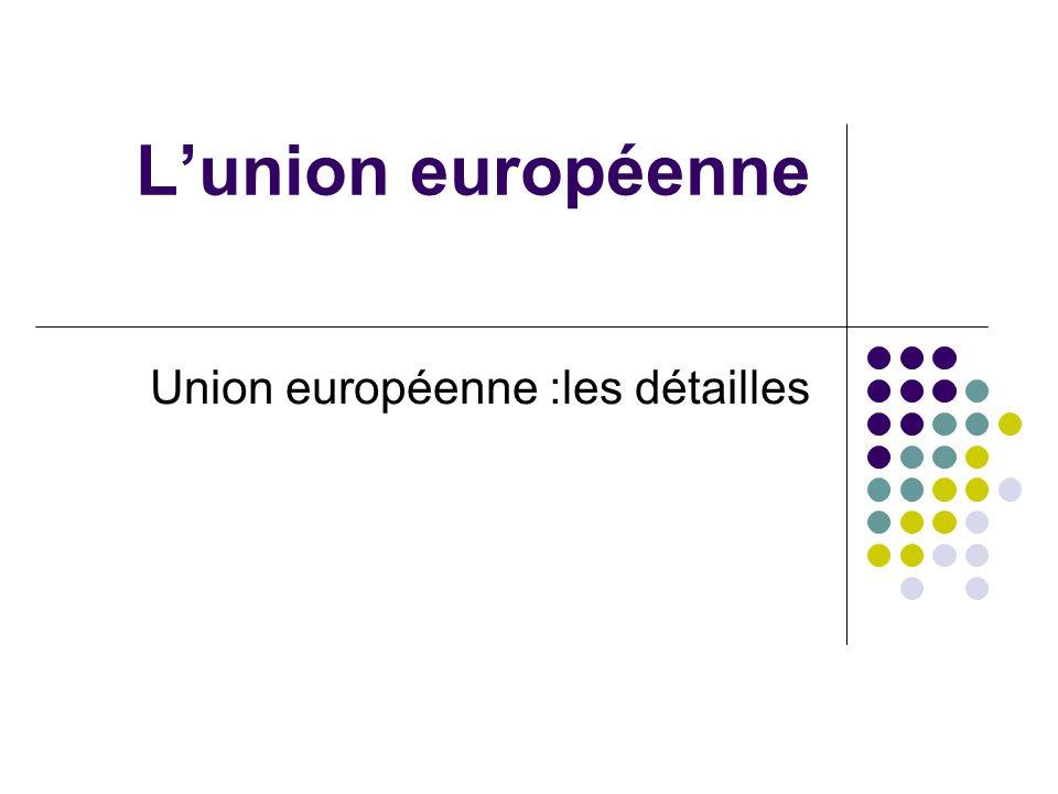 Lunion européenne Union européenne :les détailles