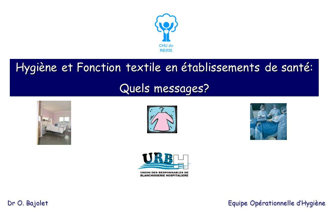 Hygiène et Fonction textile en établissements de santé: Quels messages.