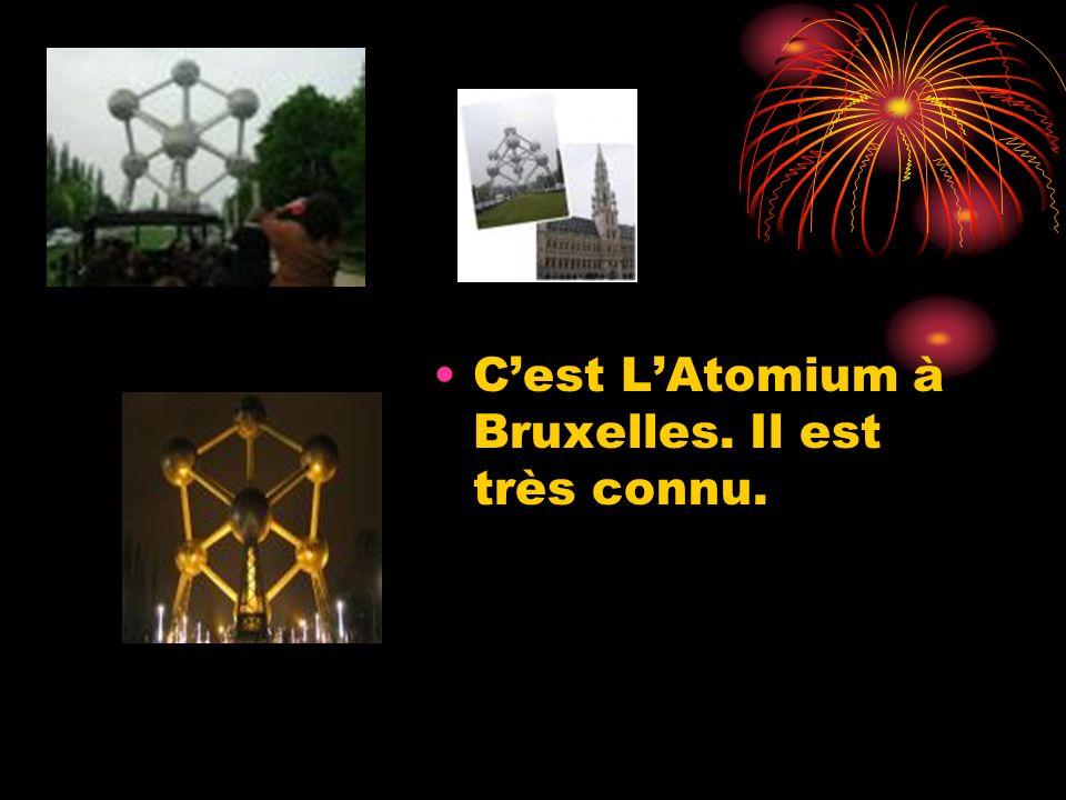Cest LAtomium à Bruxelles. Il est très connu.