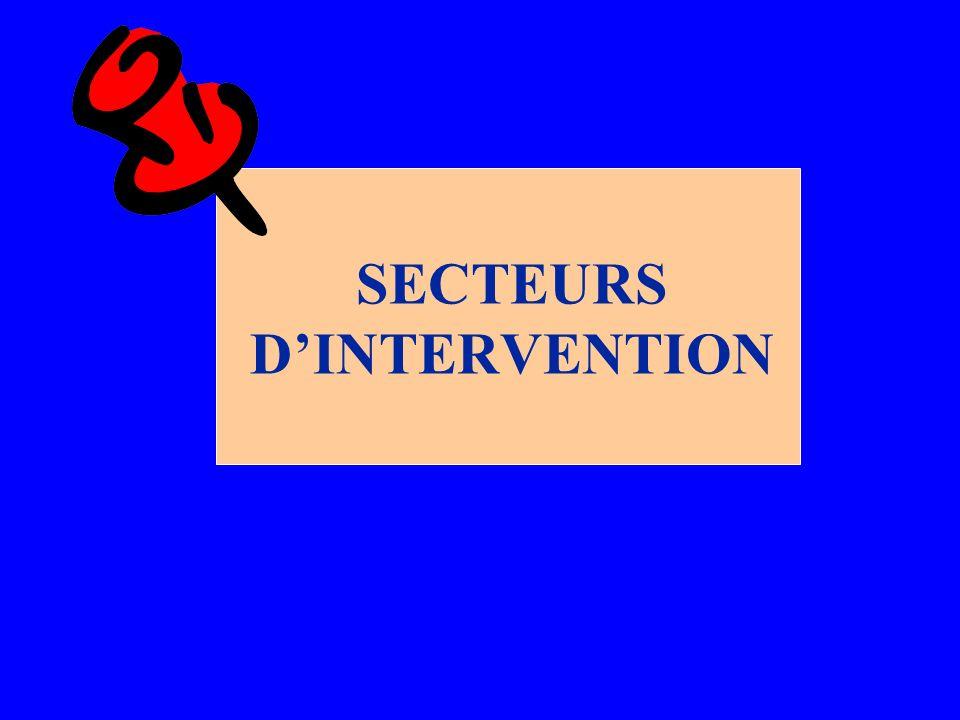 SECTEURS DINTERVENTION