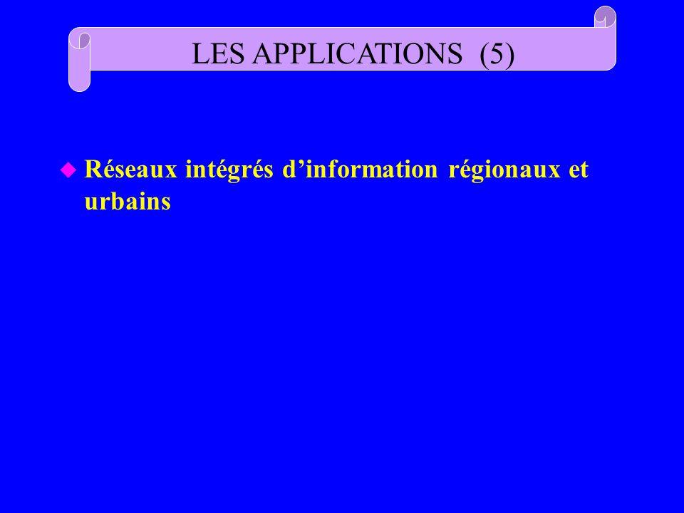 u Réseaux intégrés dinformation régionaux et urbains LES APPLICATIONS (5)
