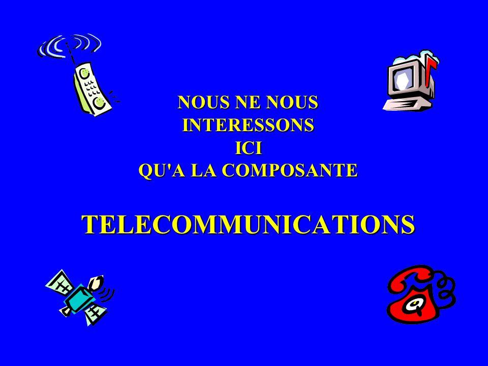 NOUS NE NOUS INTERESSONS ICI QU'A LA COMPOSANTE TELECOMMUNICATIONS