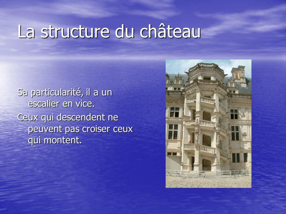 La structure du château Sa particularité, il a un escalier en vice.