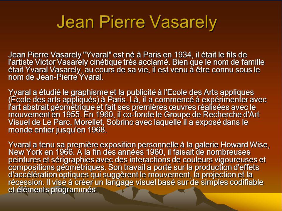 Jean Pierre Vasarely Jean Pierre Vasarely