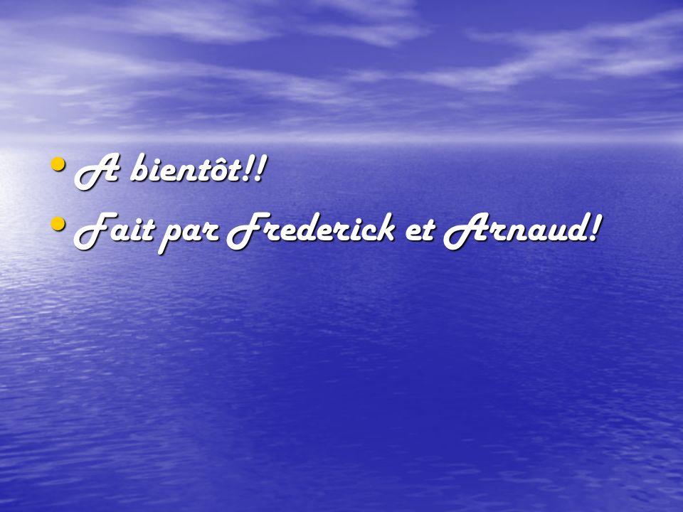 A bientôt!! A bientôt!! Fait par Frederick et Arnaud! Fait par Frederick et Arnaud!