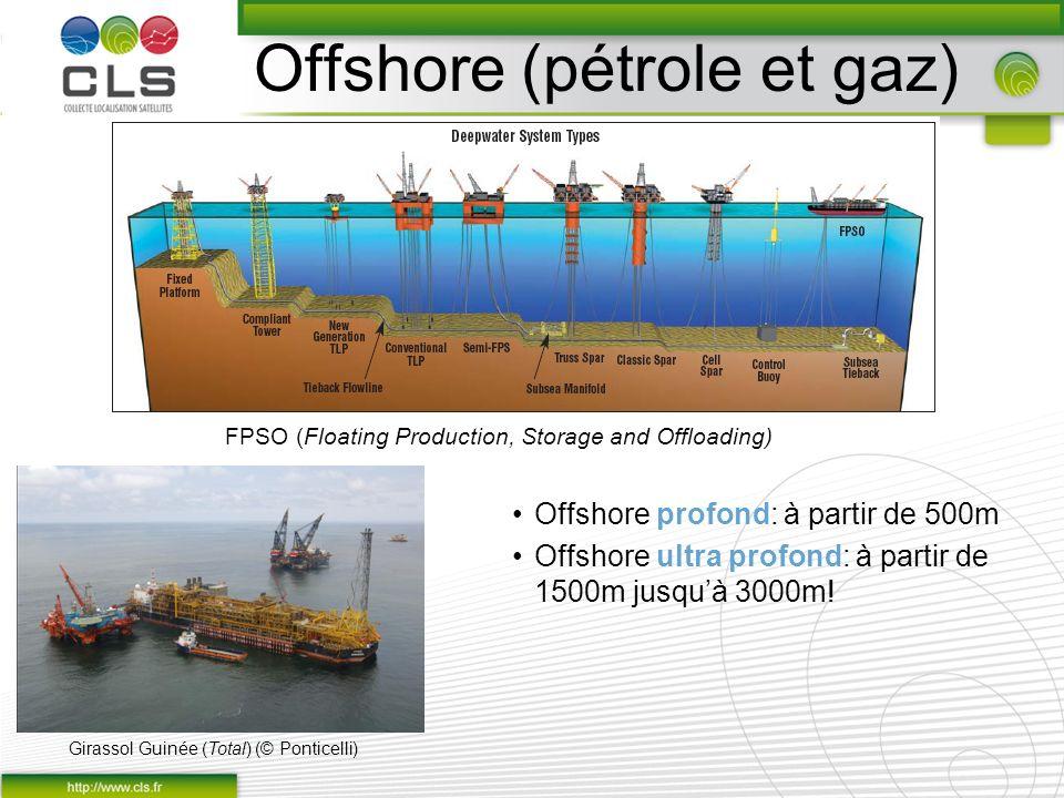 Offshore profond: à partir de 500m Offshore ultra profond: à partir de 1500m jusquà 3000m! Offshore (pétrole et gaz) Girassol Guinée (Total) (© Pontic