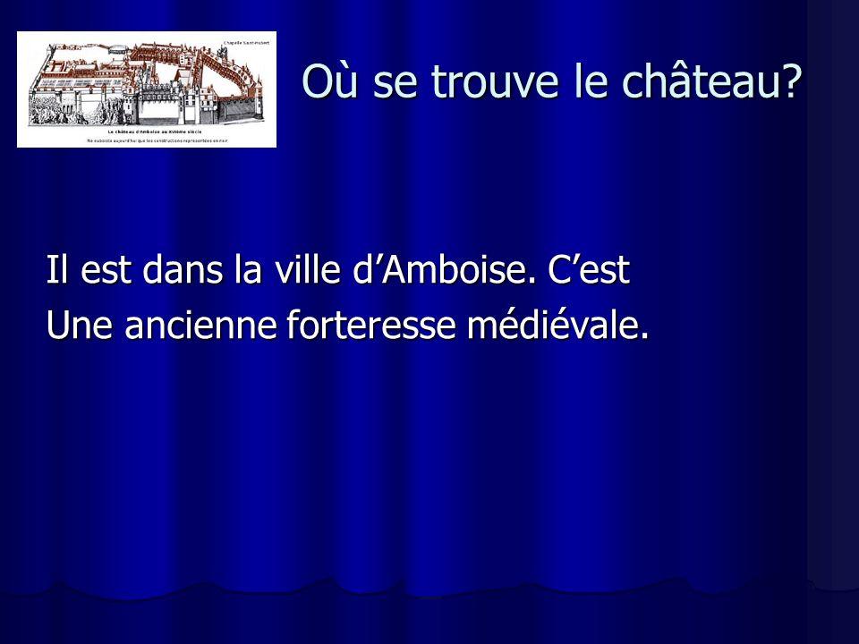 Quand a t-il été construit .Louis XI fait d Amboise la résidence de la reine, Charlotte de Savoie.