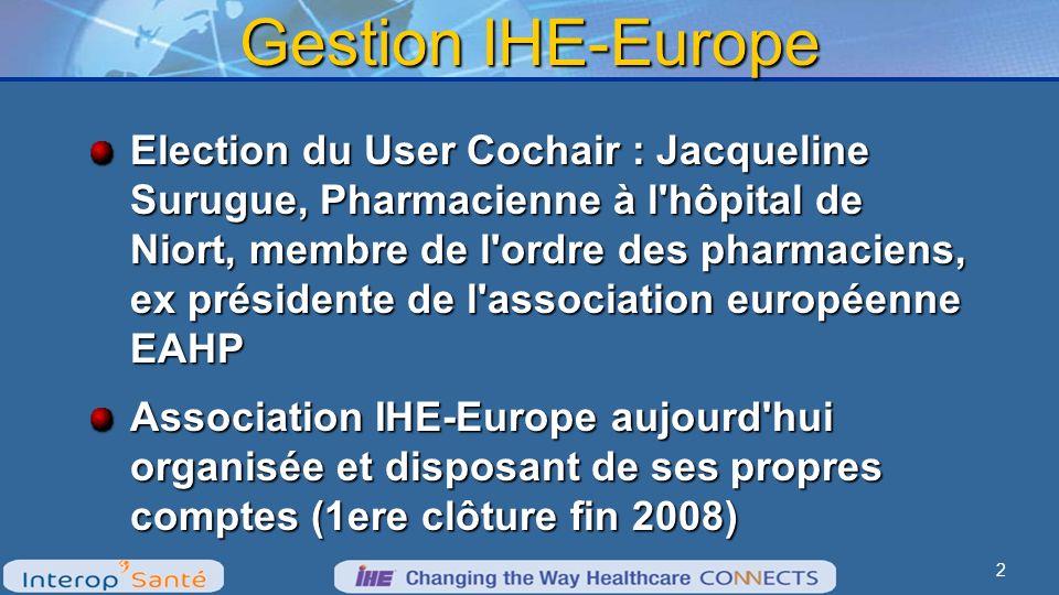 Extension dIHE-Europe Promotion pour inscrire de nouveaux membres actifs : nouveaux tarifs applicables dès 2010 Amélioration en cours du marketing et du site web (success stories…) Nouveaux arrivants : Suisse et Turquie 3