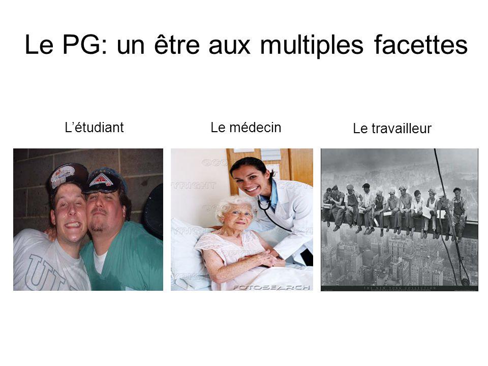 Le PG: un être aux multiples facettes LétudiantLe médecin Le travailleur