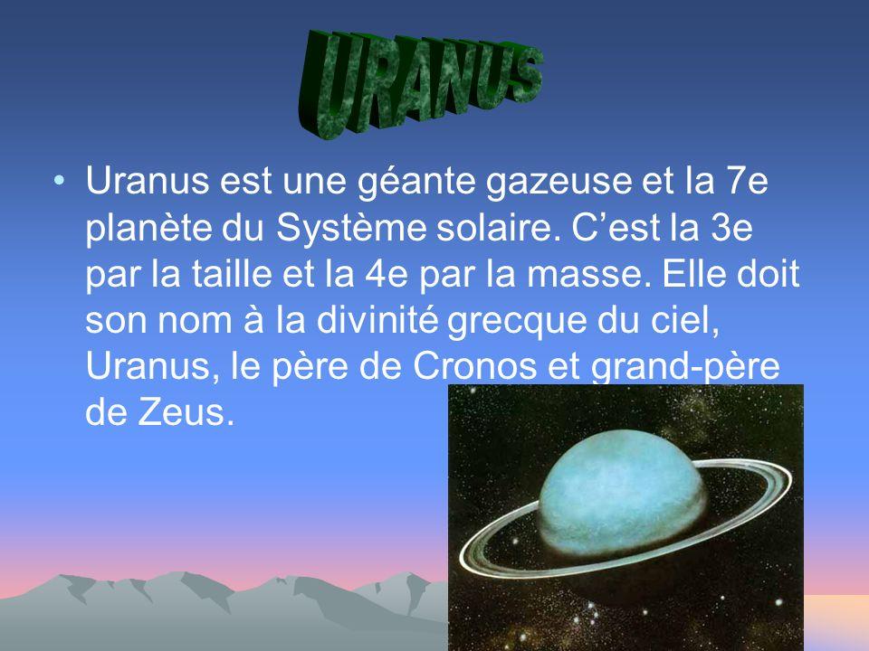Uranus est une géante gazeuse et la 7e planète du Système solaire.