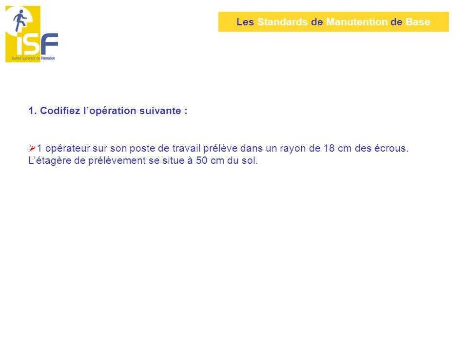 Les Standards de Manutention de Base Étape 4 : calculer le Temps dExécution (T.
