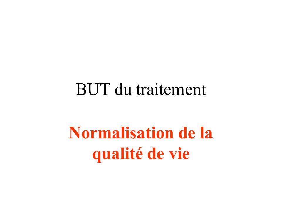 BUT du traitement Normalisation de la qualité de vie