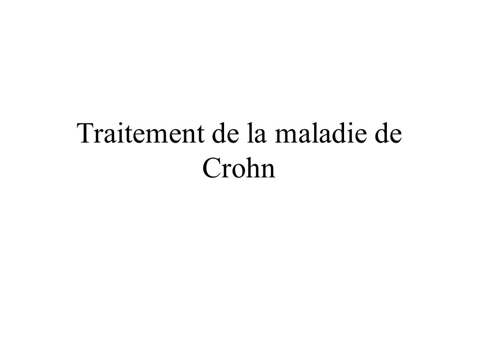 Traitement de la maladie de Crohn