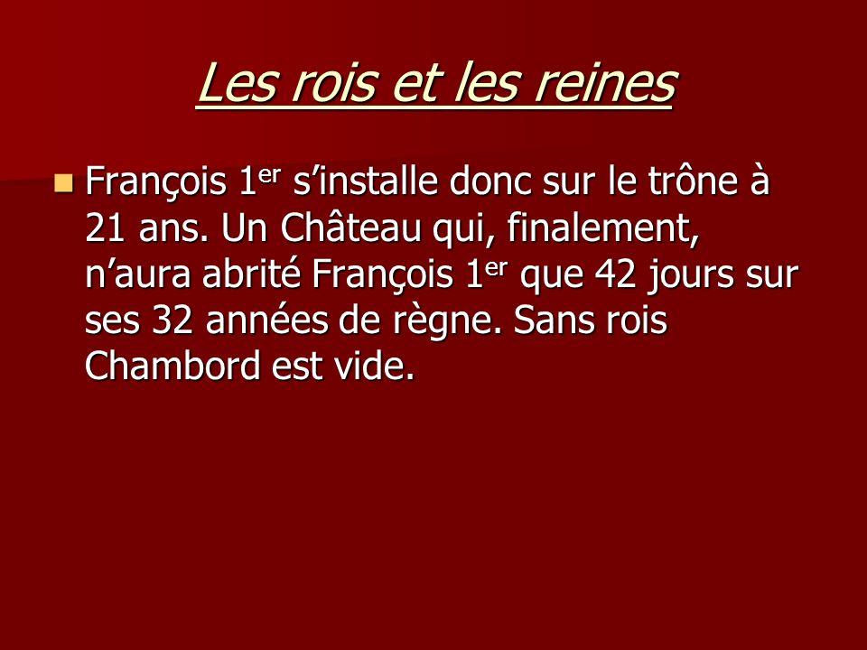 Histoire du château de Chambord La salamandre était le symbole de François 1 er.