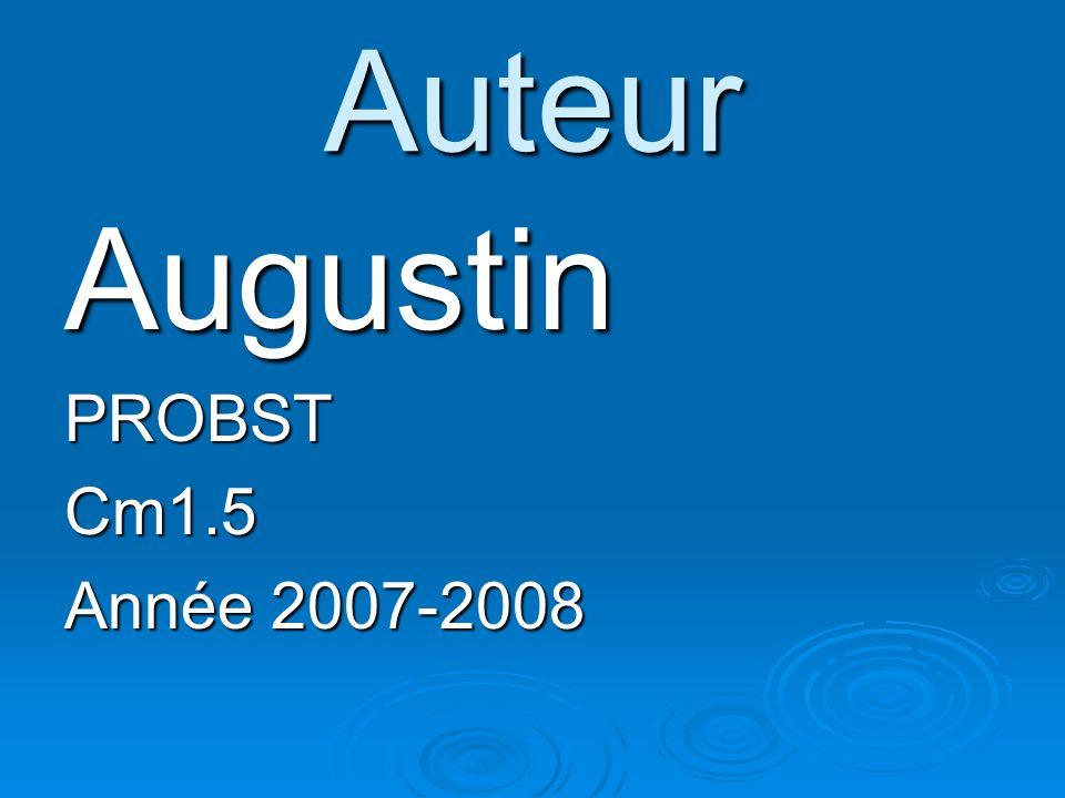 Auteur AugustinPROBSTCm1.5 Année 2007-2008