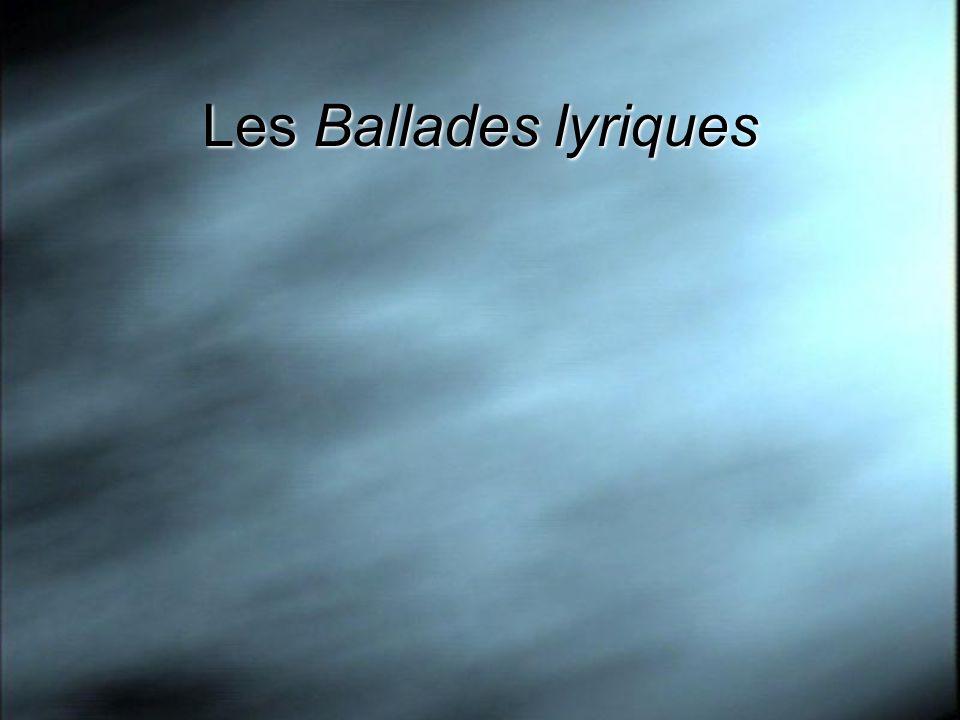 Les Ballades lyriques