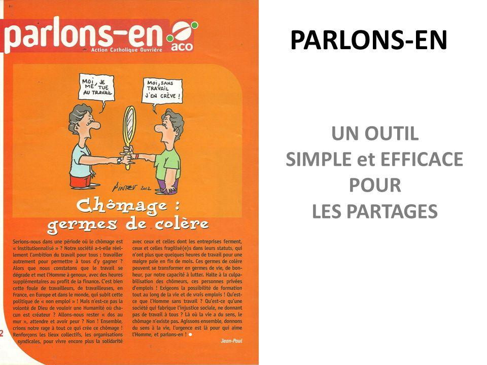 PARLONS-EN UN OUTIL SIMPLE et EFFICACE POUR LES PARTAGES