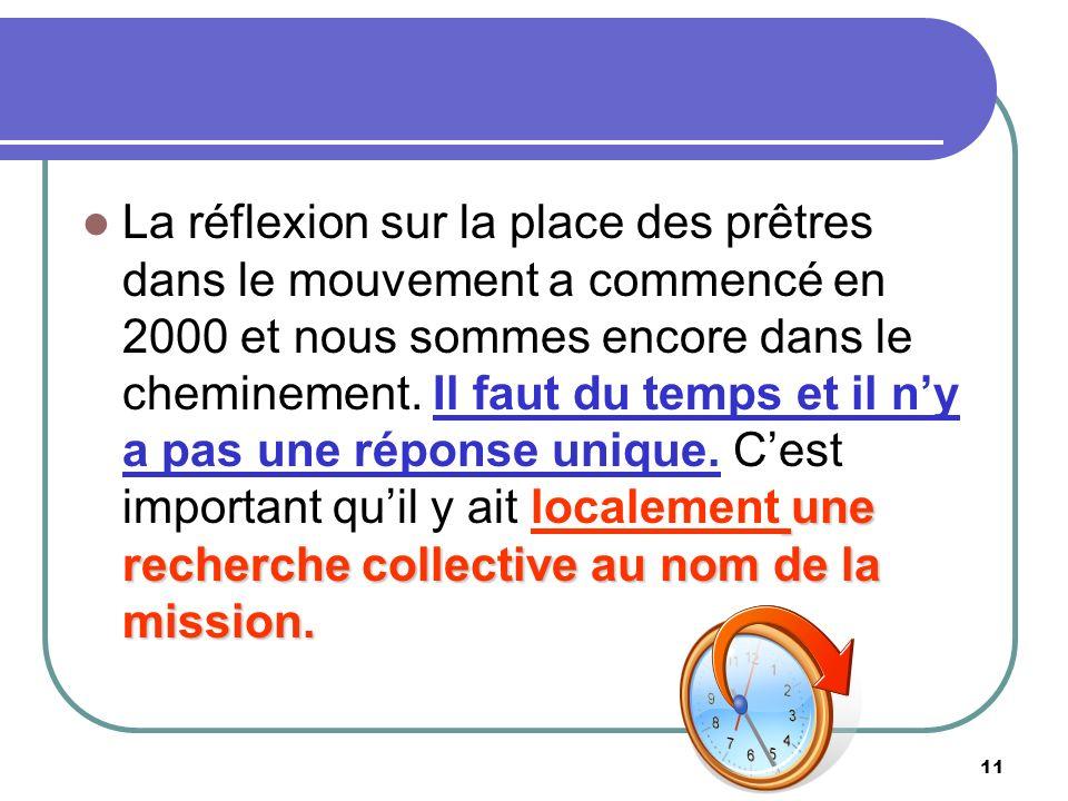 11 une recherche collective au nom de la mission.