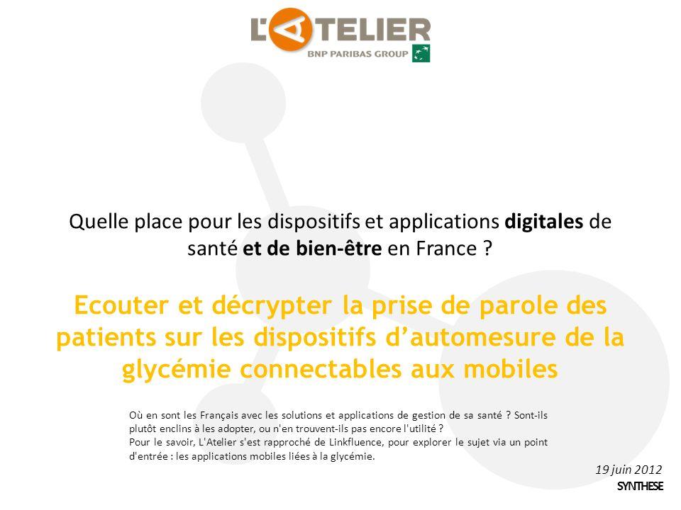Quelle place pour les dispositifs et applications digitales de santé et de bien-être en France .