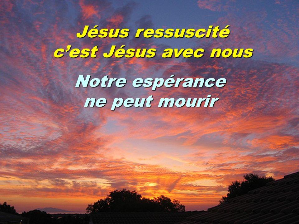 Jésus ressuscité cest Jésus avec nous Notre espérance ne peut mourir