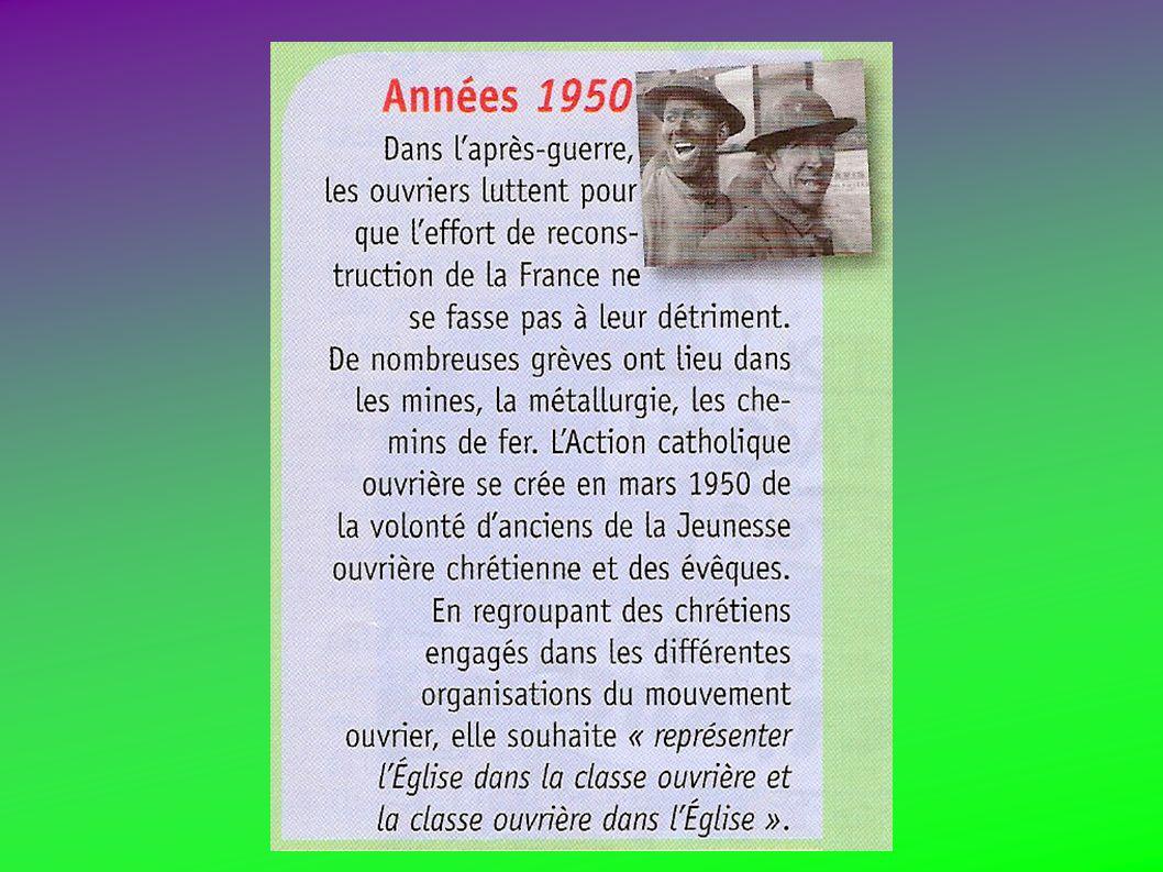 20 et 21 octobre 1951 1ère Rencontre nationale de l ACO à Paris : « Amitié fraternelle, unité profonde, lACO désormais na plus quà aller de lavant ».