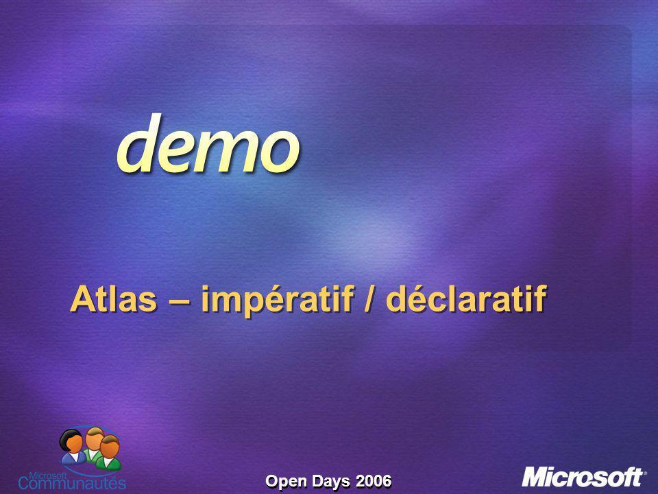 Open Days 2006 Atlas – impératif / déclaratif