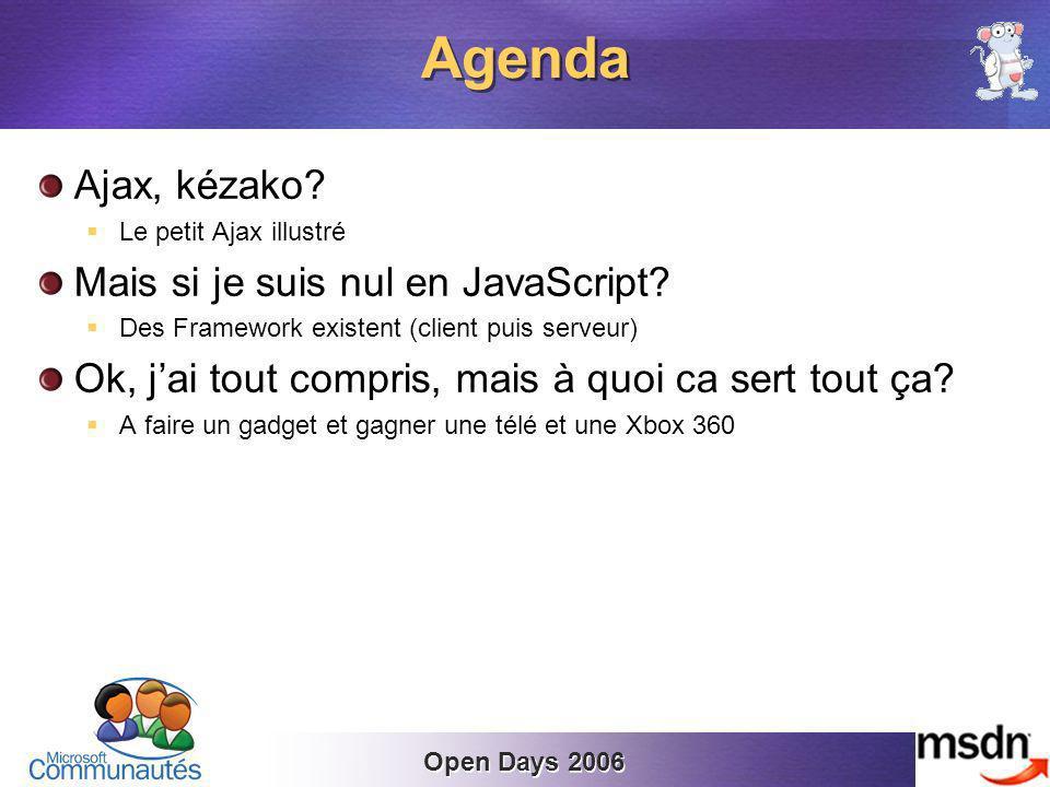 Open Days 2006 Ajax, kézako.Le petit Ajax illustré Mais si je suis nul en JavaScript.