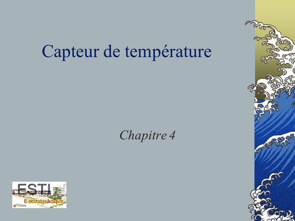Capteur de température Chapitre 4