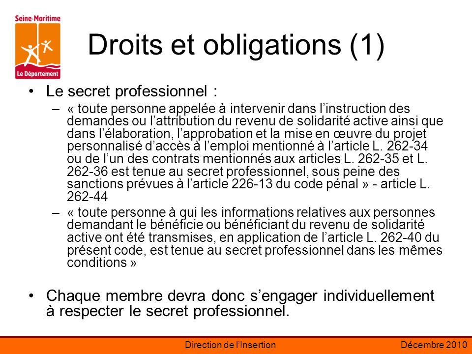 Direction de lInsertionDécembre 2010 Rappel: qui doit signer un PPAE ou un contrat dinsertion?
