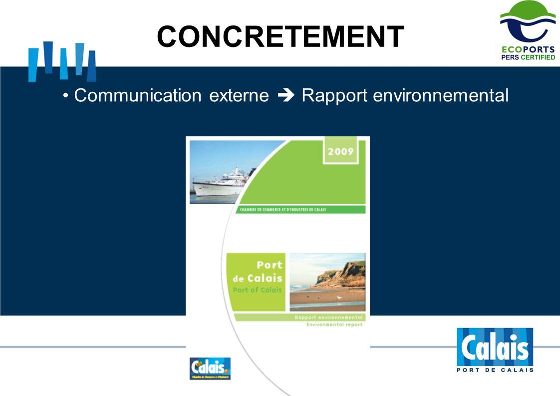 CONCRETEMENT Communication externe Rapport environnemental
