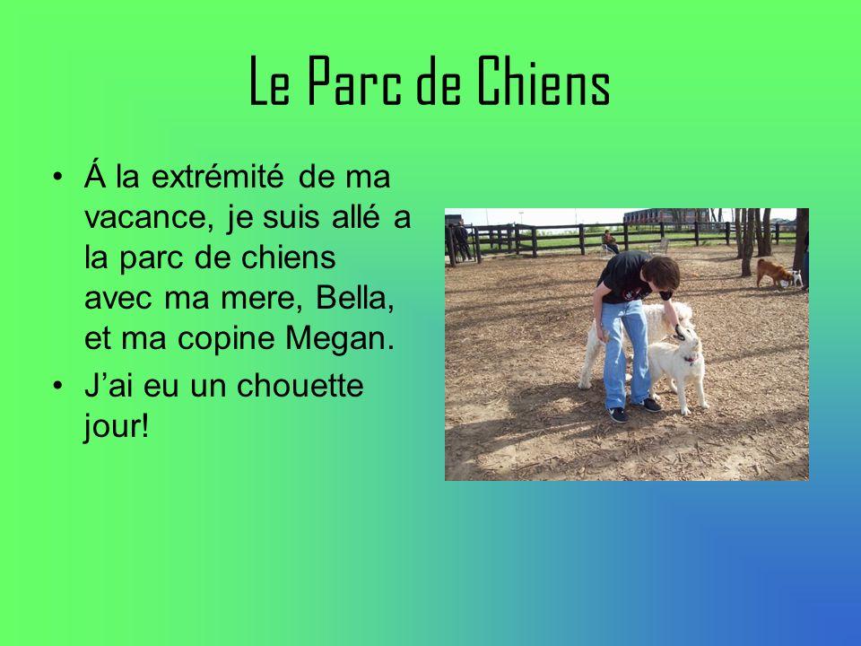 Le Parc de Chiens Á la extrémité de ma vacance, je suis allé a la parc de chiens avec ma mere, Bella, et ma copine Megan.