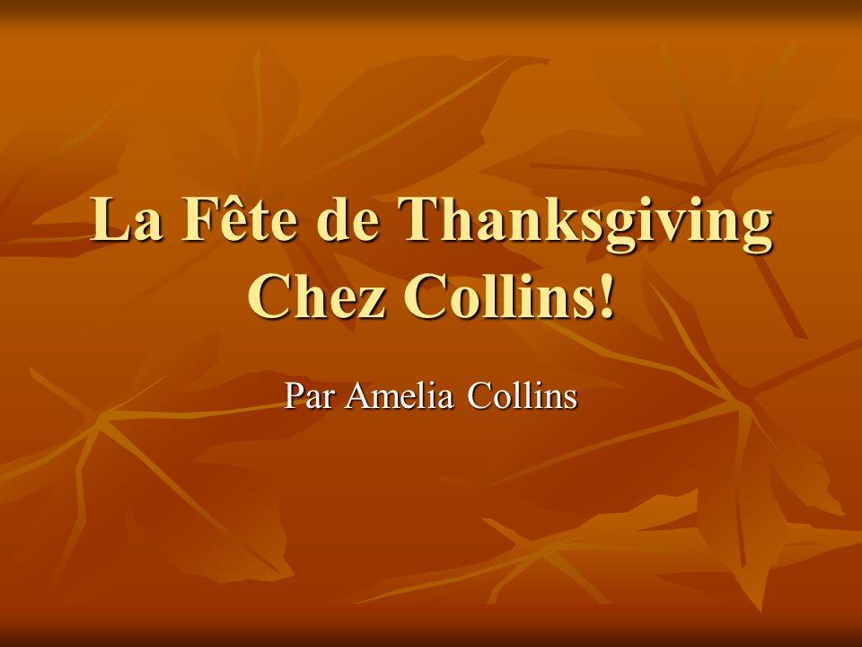 La Fête de Thanksgiving Chez Collins! Par Amelia Collins