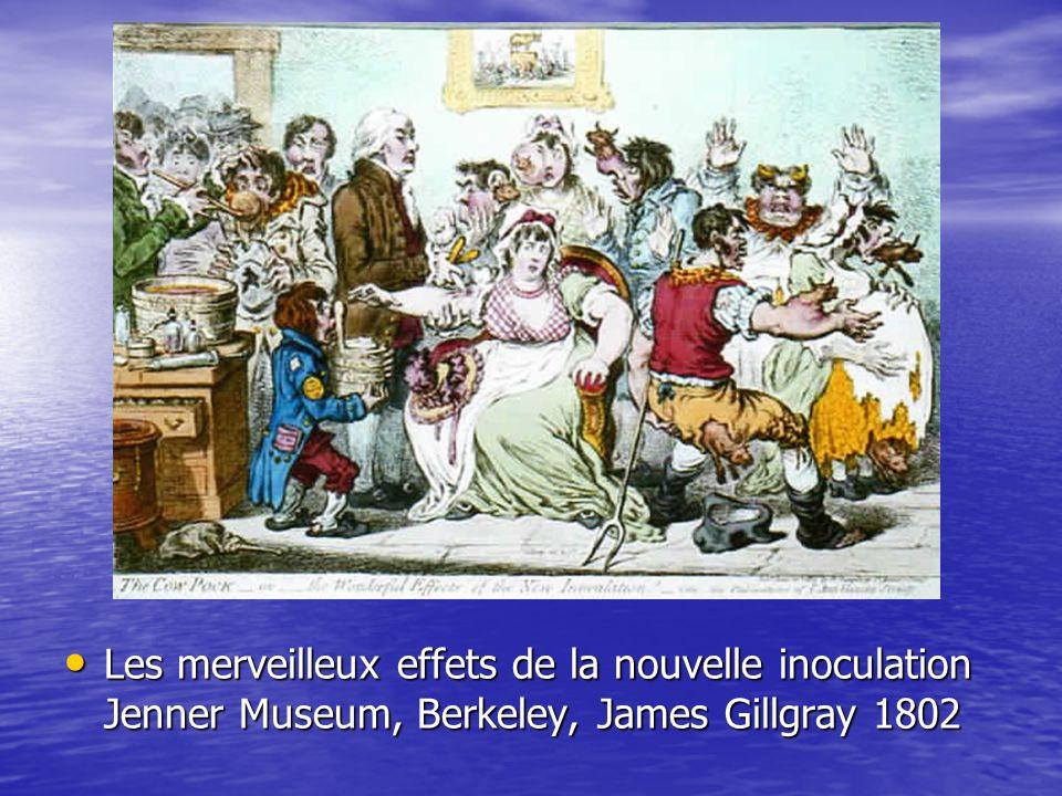 Les merveilleux effets de la nouvelle inoculation Jenner Museum, Berkeley, James Gillgray 1802 Les merveilleux effets de la nouvelle inoculation Jenne