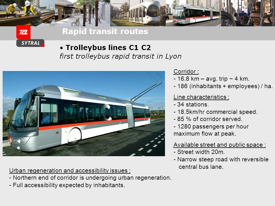 Trolleybus line C3: Connecting outskirts to the center Vaulx-en-Velin / Part-Dieu / St-Paul