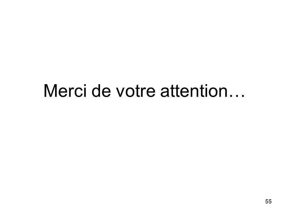 55 Merci de votre attention…