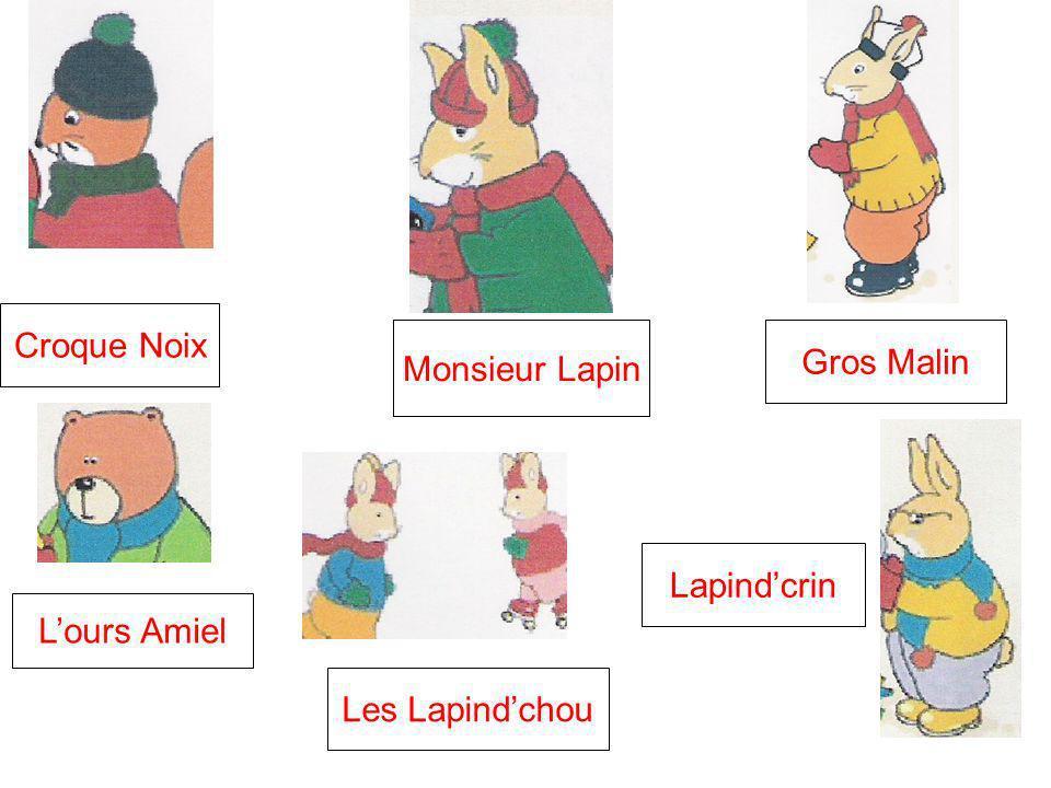 Monsieur Lapin Croque Noix Lours Amiel Les Lapindchou Lapindcrin Gros Malin