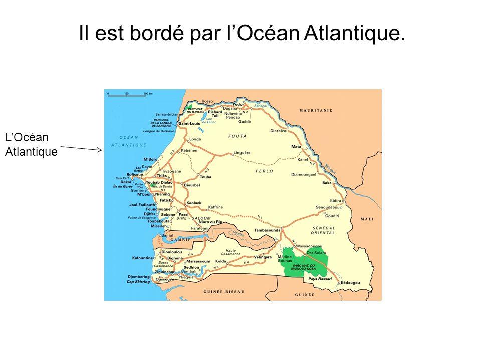 Il est bordé par lOcéan Atlantique. LOcéan Atlantique
