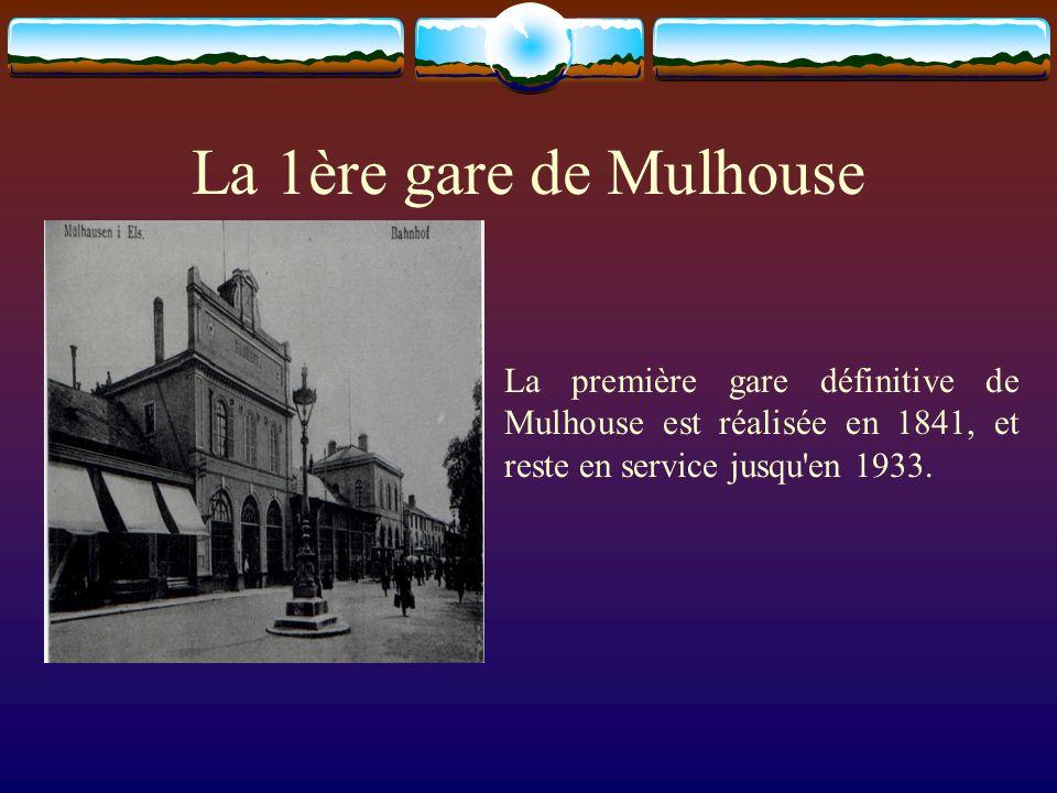La 1ère locomotive La première locomotive circulant sur le trajet Mulhouse-Thann fut construite dans latelier de fonderie et de mécanique créé en 1836 par ANDRE KOECHLIN.