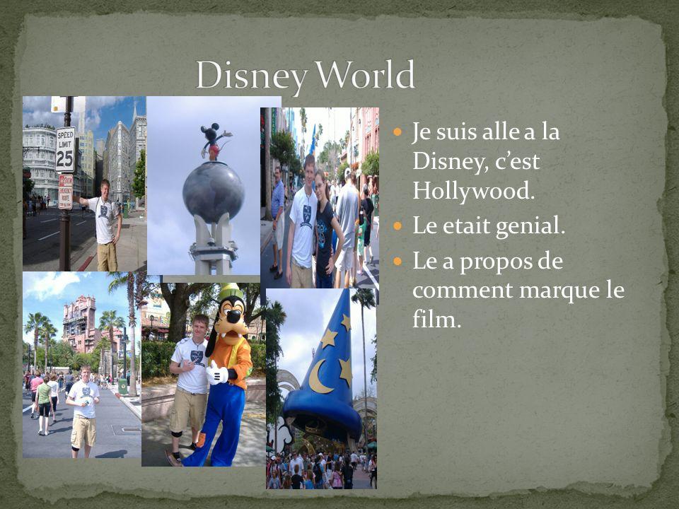Je suis alle a la Disney, cest Hollywood. Le etait genial. Le a propos de comment marque le film.
