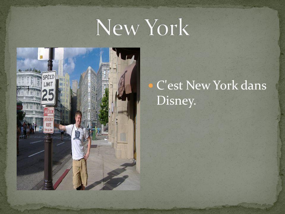 C'est New York dans Disney.