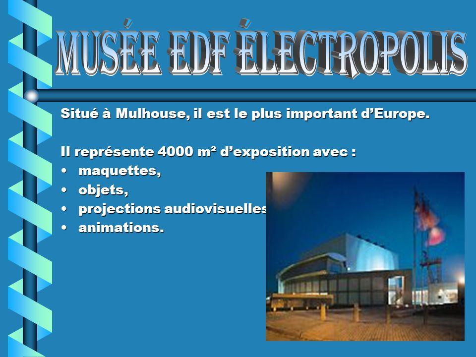 Situé à Mulhouse, il est le plus important dEurope. Il représente 4000 m² m² dexposition avec : maquettes,maquettes, objets,objets, projectionsproject