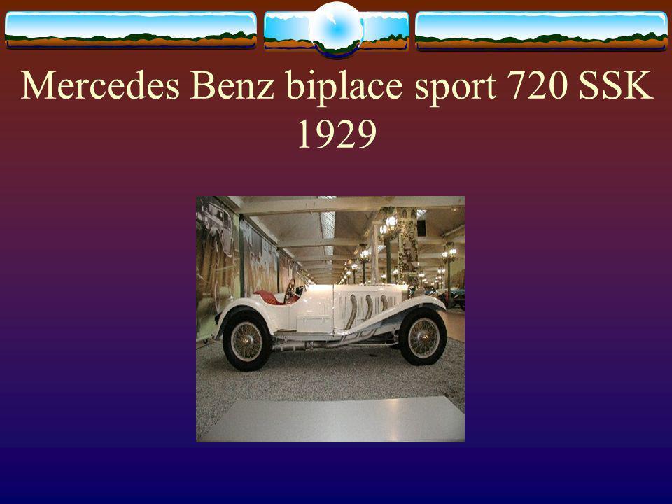 Mercedes Benz biplace sport 720 SSK 1929