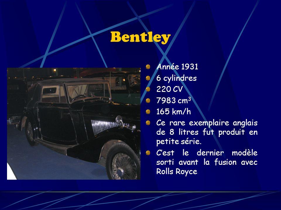 Maybach Année 1937 6 cylindres 140 CV 3790 cm 3 140 km/h Cette limousine allemande de luxe fut produit à partir de 1907.