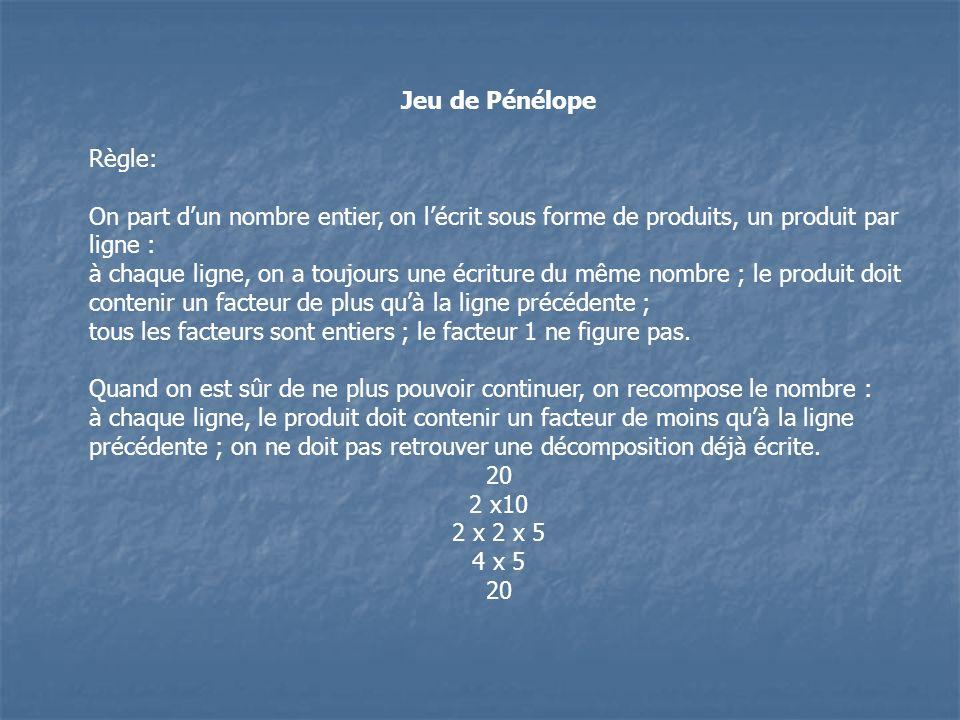 Jeu des 4x4 Règle : On dispose de quatre chiffres « 4 » et des quatre opérations.