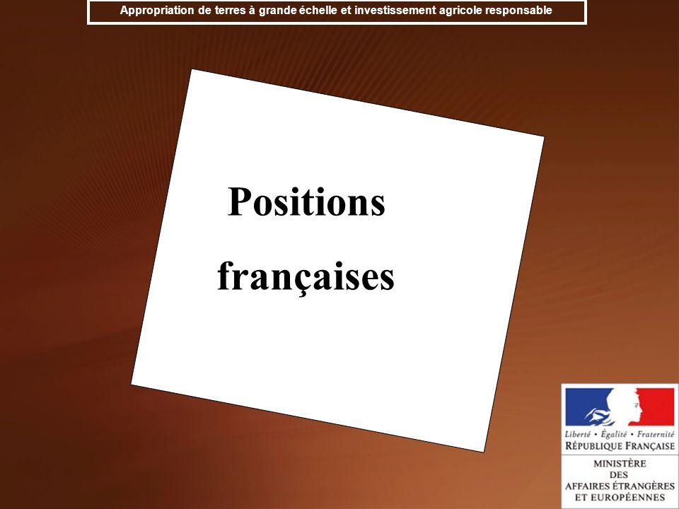 Positions françaises