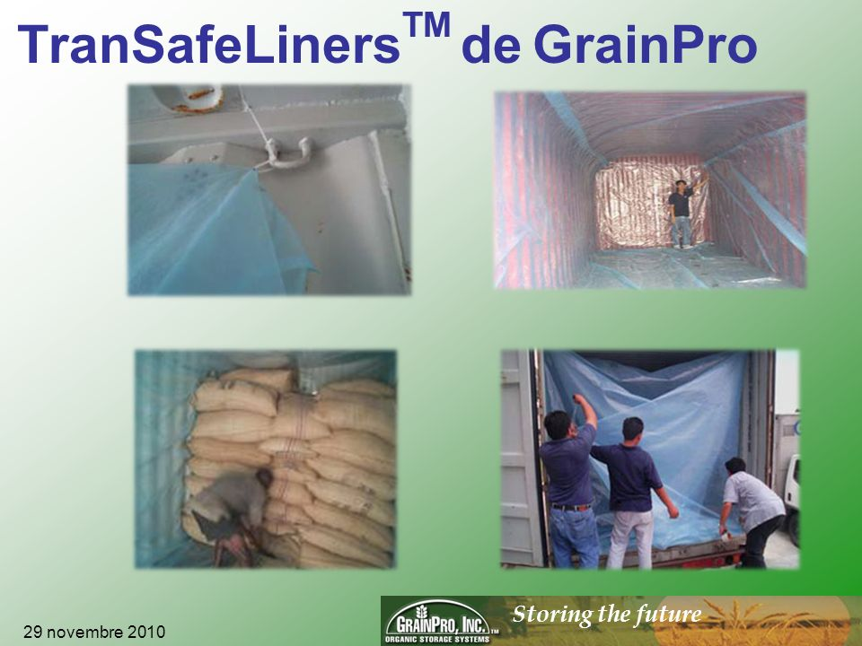 Storing the future GrainPro, Inc.
